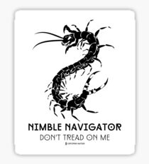The ORIGINAL Nimble Navigator - Don't Tread On Me by Centipede Nation Sticker