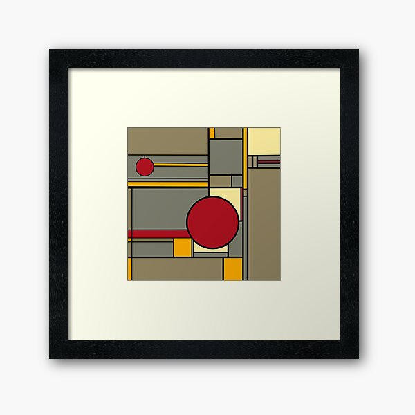 Lines and Love Framed Art Print