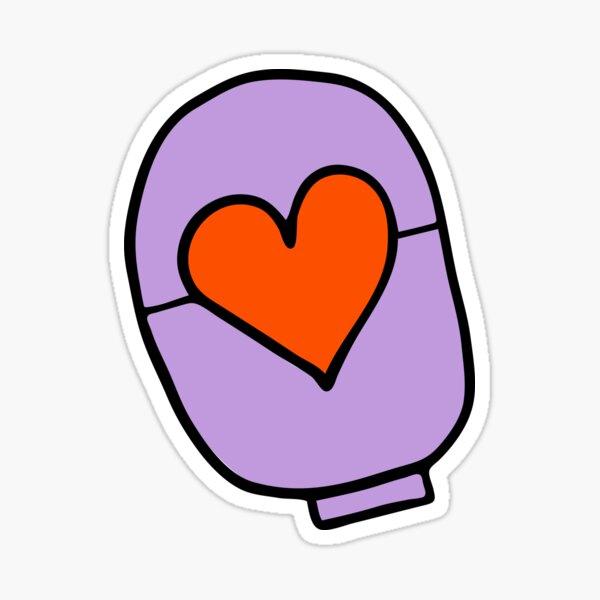 ostomy love – purple Sticker