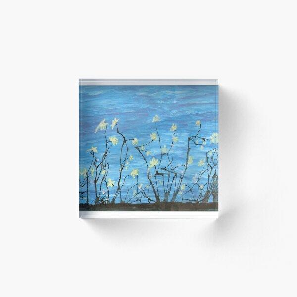 Night Blooms Acrylic Block