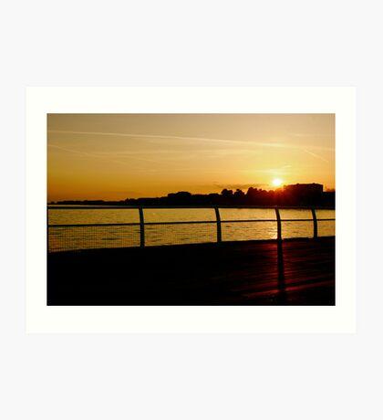Clacton Sunset Art Print
