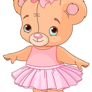 Cute teddy berar ballerina by criarte