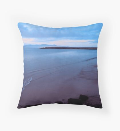 Mood blue and sea  Throw Pillow