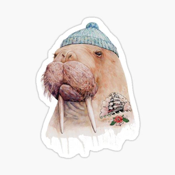 Tattooed Walrus Sticker