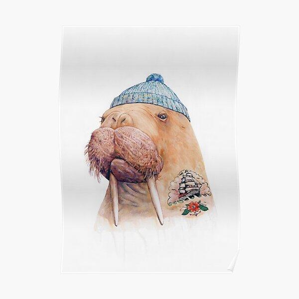 Tattooed Walrus Poster