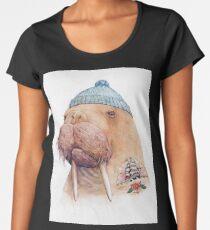 Tätowiertes Walross Frauen Premium T-Shirts