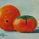 Orange and persimmon by Estelle O'Brien