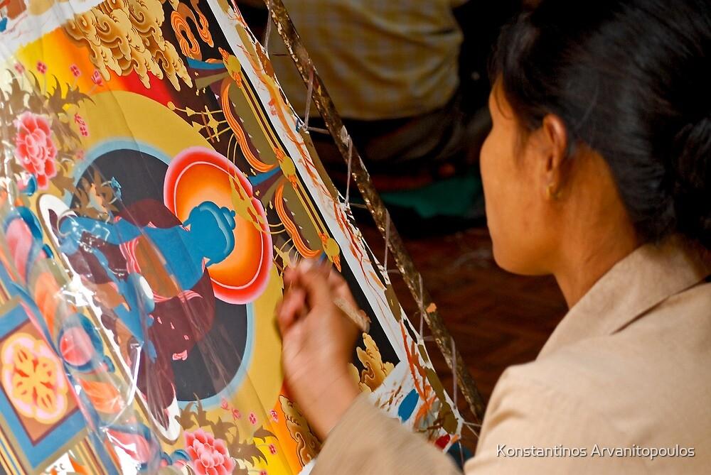 Tibetan art by Konstantinos Arvanitopoulos