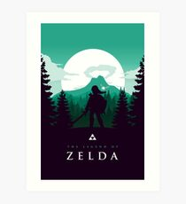 The Legend of Zelda (Green) Kunstdruck