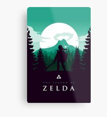 The Legend of Zelda (Green) Metal Print