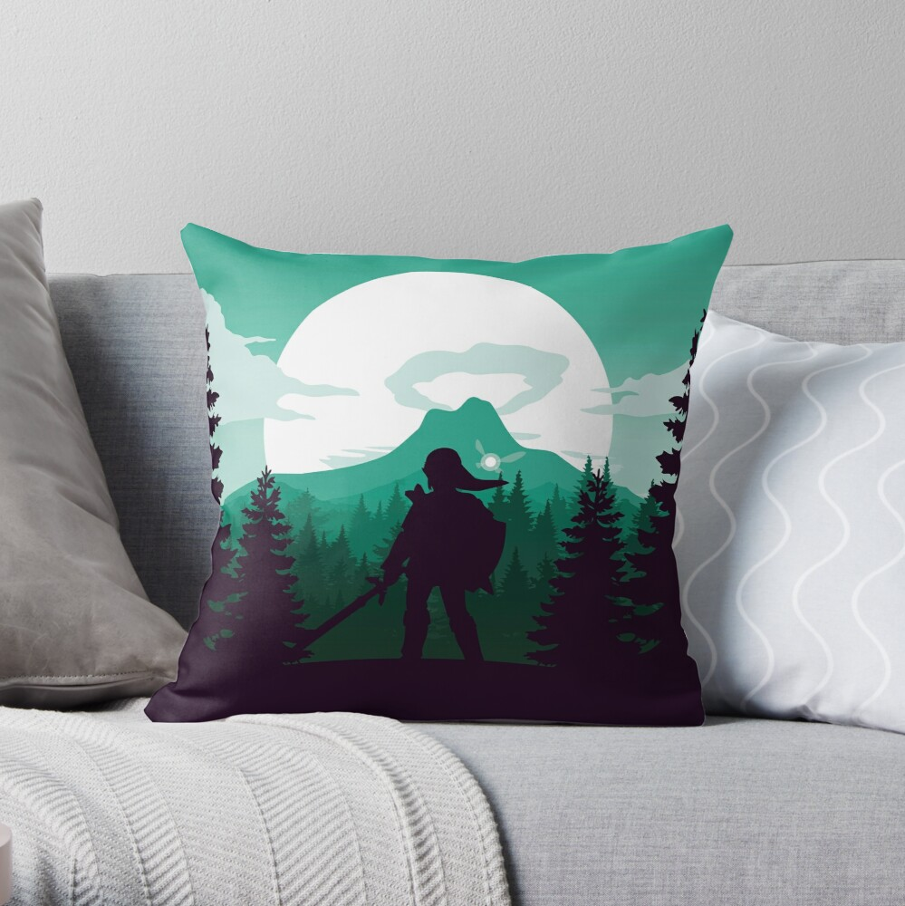 The Legend of Zelda (Green) Throw Pillow