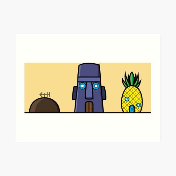 Houses of SpongeBob SquarePants Art Print