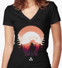 The Legend of Zelda (Orange) Women's Fitted V-Neck T-Shirt