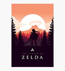The Legend of Zelda (Orange) Fotodruck