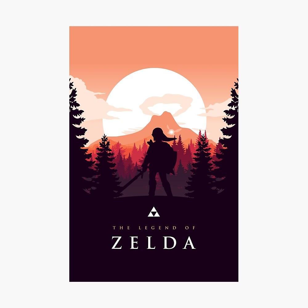 The Legend of Zelda (Orange) Fotodruck