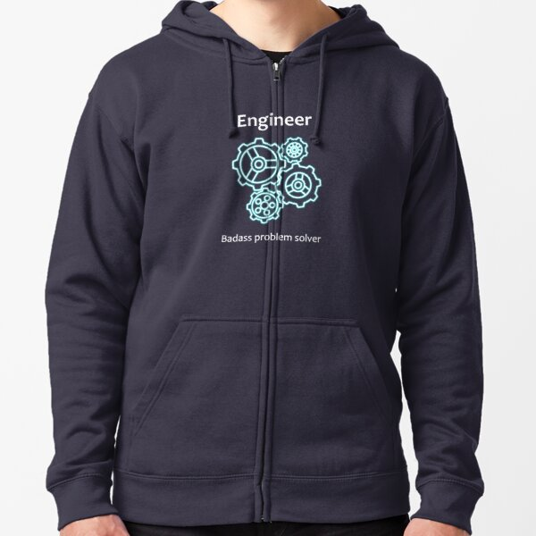 Small Hoodie Engineer Brain Girls Comfortable Pocket Hoodie