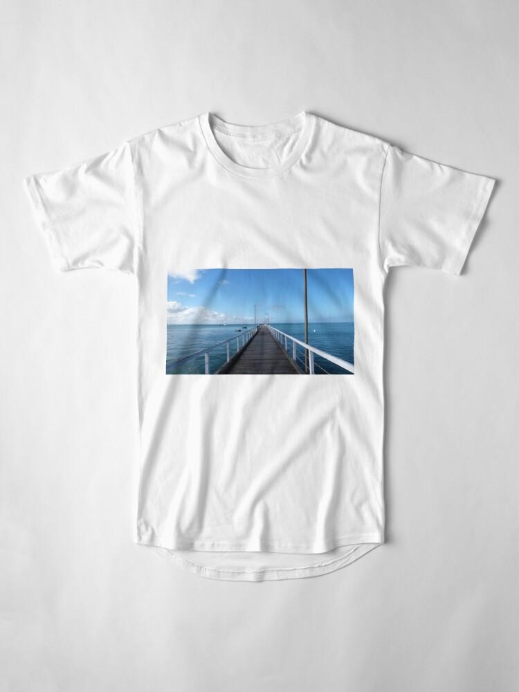 Alternate view of Beachport Jetty, Limestone Coast, South Australia. Long T-Shirt