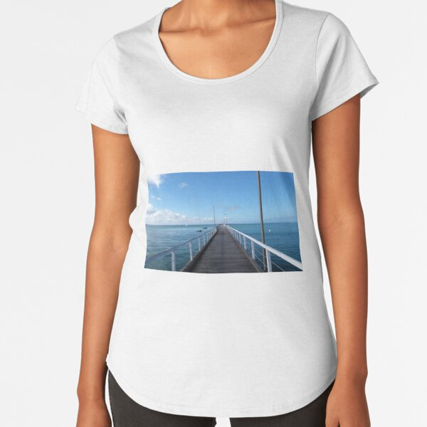 Beachport Jetty, Limestone Coast, South Australia. Premium Scoop T-Shirt
