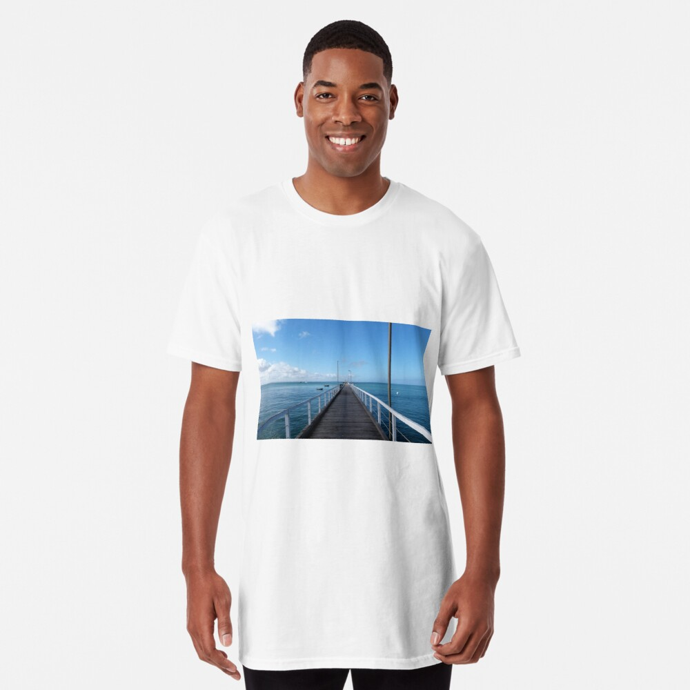 Beachport Jetty, Limestone Coast, South Australia. Long T-Shirt