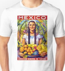 Mexico Vintage Travel Poster Restored T-Shirt