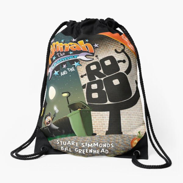 Hannah the Spanner and the Robot Drawstring Bag