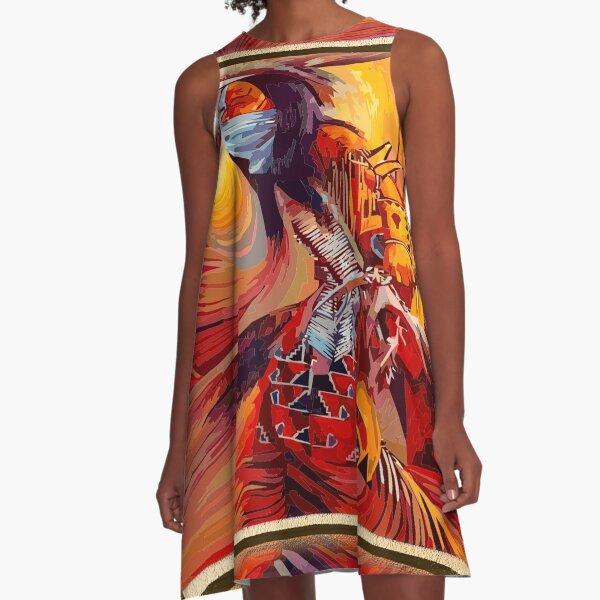 fwc 0542 Native American A-Line Dress
