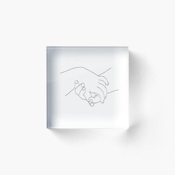 Picasso Line Art - Hands Acrylic Block