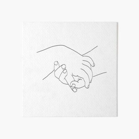 Picasso Line Art - Hands Art Board Print