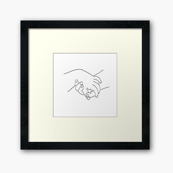 Picasso Line Art - Hands Framed Art Print