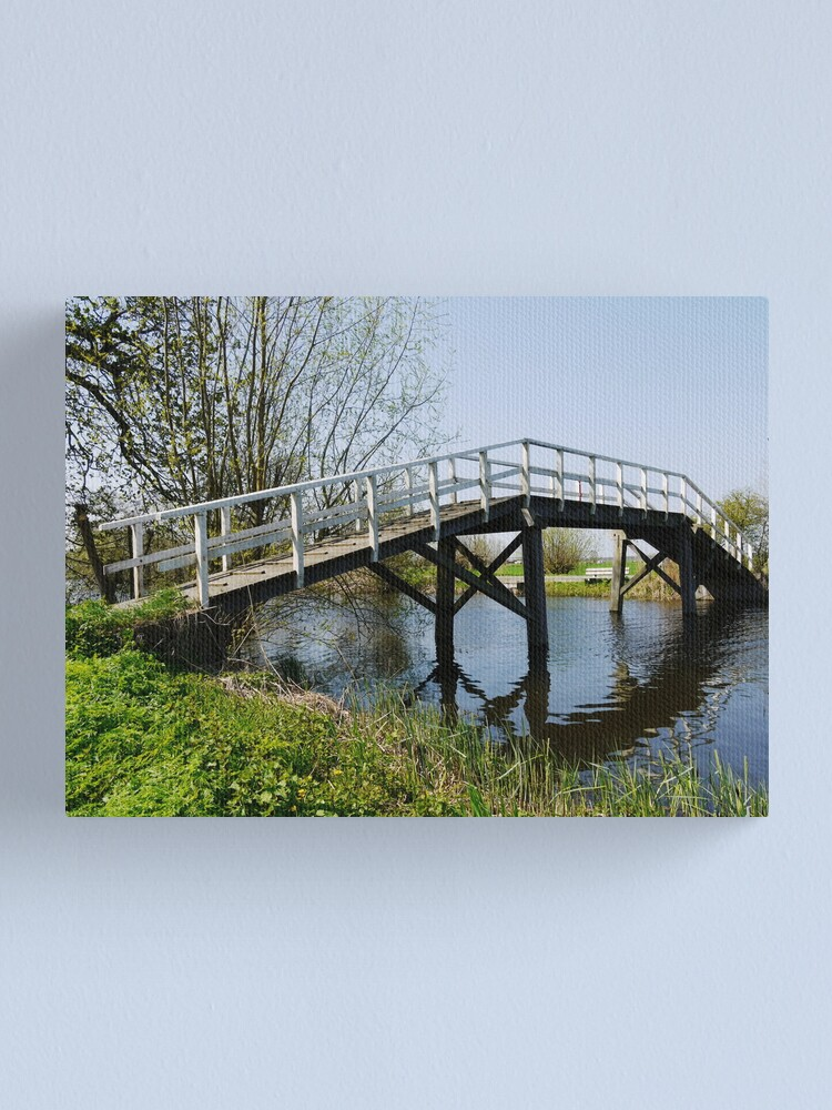 Alternate view of Footbridge over the Gein Canvas Print
