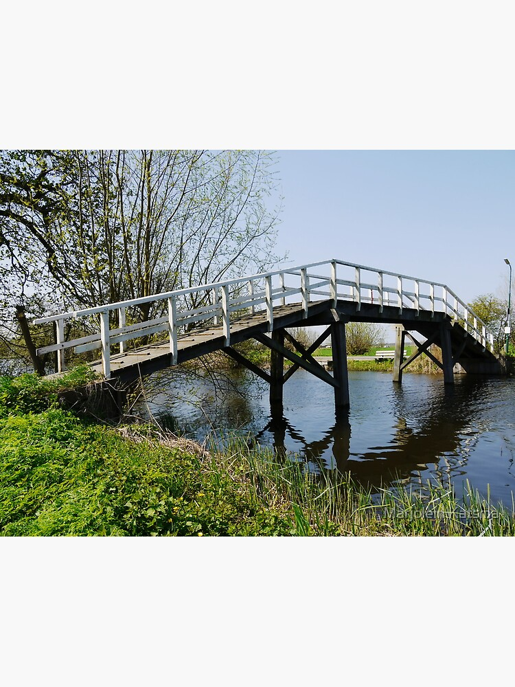Footbridge over the Gein by marjoleink