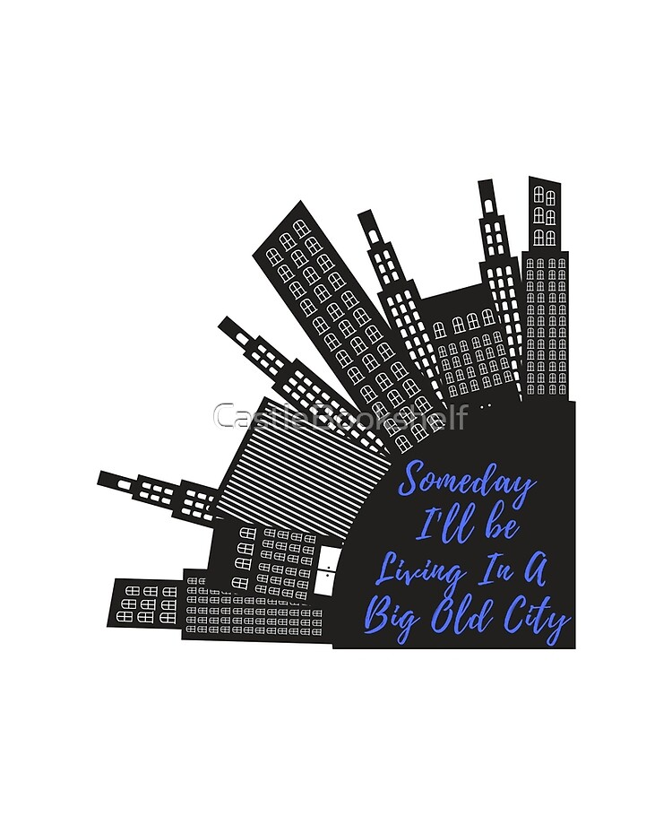 Someday I Ll Be Living In A Big Old City Taylor Swift Mean Lyric City Skyline Graphic Ipad Case Skin By Castlebookshelf Redbubble