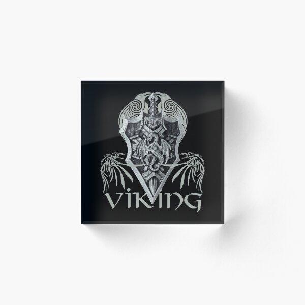 Viking Warrior Acrylic Block