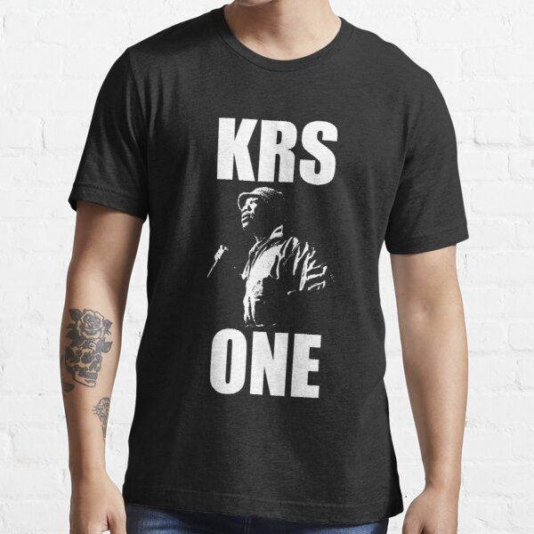 KRS-ONE - White Stencil Essential T-Shirt