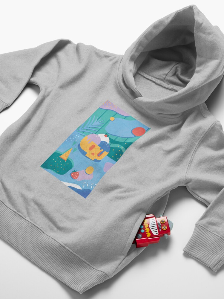 Alternate view of Skull Ice Cream Cone Toddler Pullover Hoodie