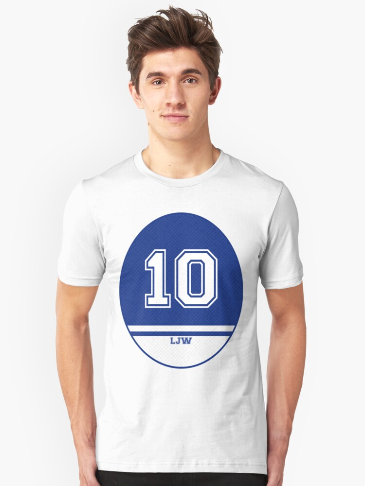 American Football Jersey Style - Blue Unisex T-Shirt Front