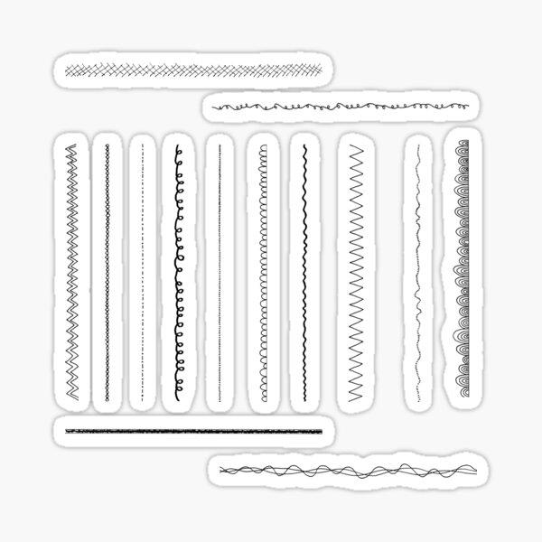 Doodle Border Sticker Set Sticker