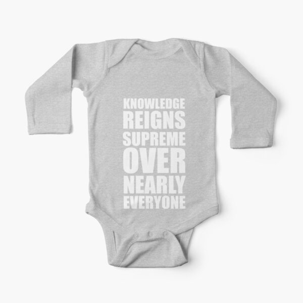 KRS ONE - KNOWLEDGE - WHITE Long Sleeve Baby One-Piece