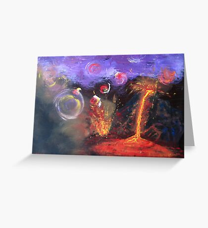 The Volcano Greeting Card
