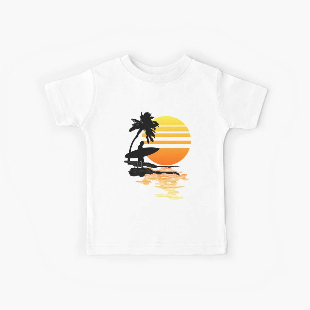 Surfing Sunrise Camiseta para niños