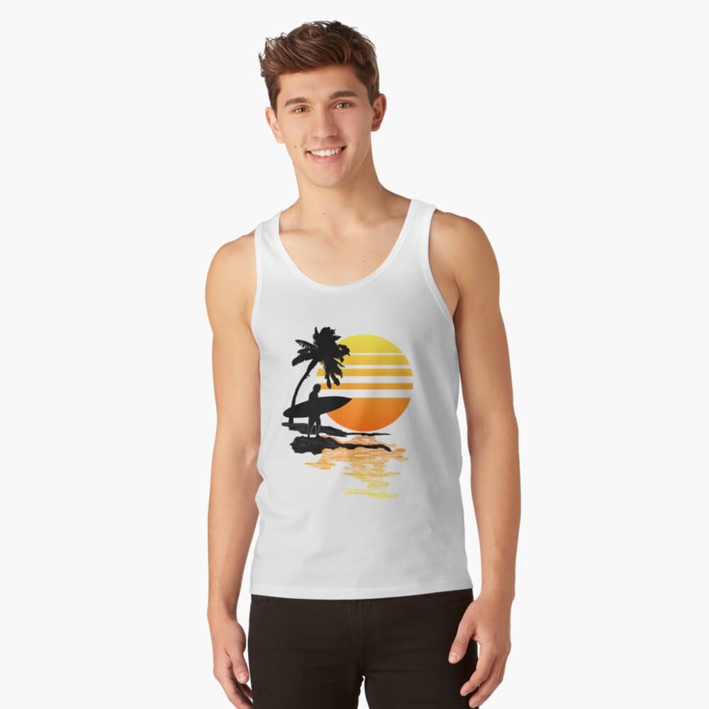 Surfing Sunrise Camiseta de tirantes