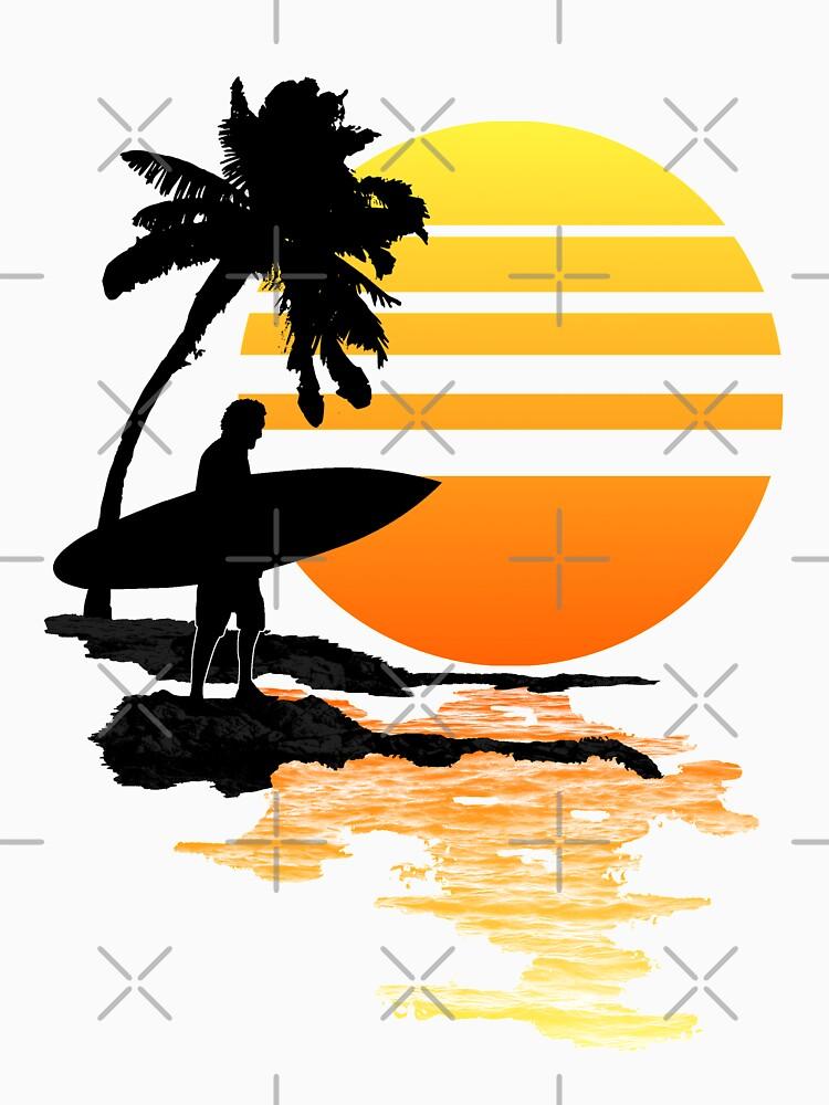 Surfender Sonnenaufgang von BailoutIsland