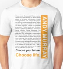 Andy Murray Trainspotting 'Choose Life' design T-Shirt
