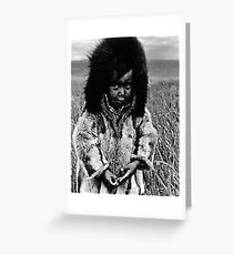 USA Alaska eskimo boy 1970s Greeting Card