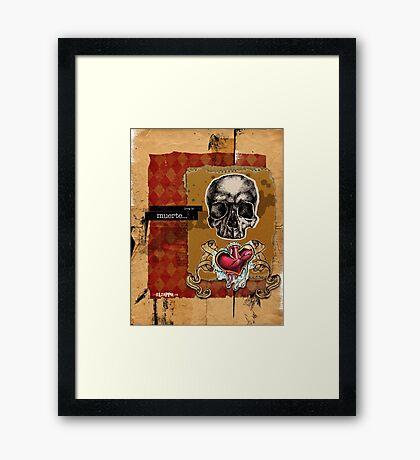 Love is MUERTE Framed Print
