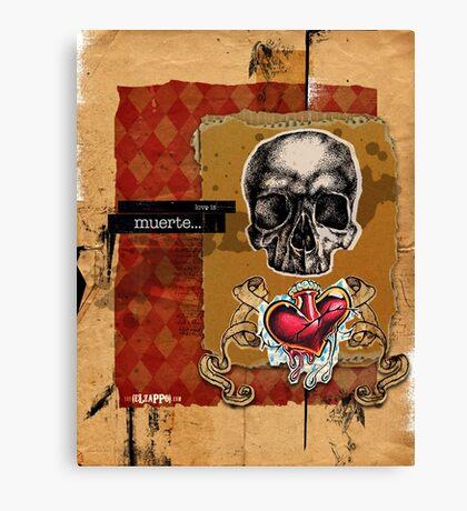 Love is MUERTE Canvas Print