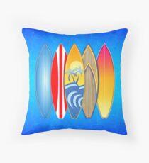 Surfboards Throw Pillow