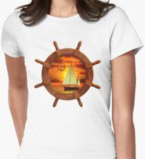 Sailboat And Compass Rose T-Shirt