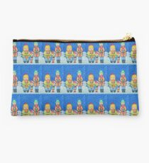 funny carol singers in the snow Christmas art Studio Pouch