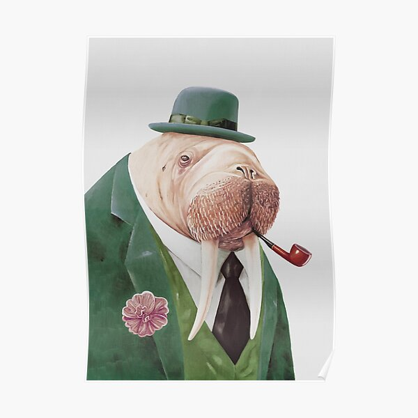 Walrus Green Poster